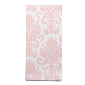 Light Pink Girly Damask Cloth Napkin