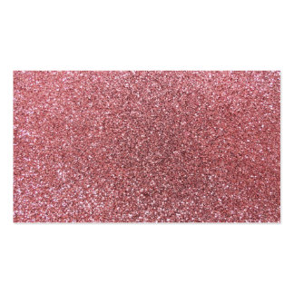 Light pink glitter business card