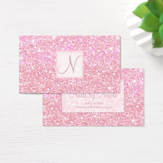 Light Pink Glitter Chic Glam Glitzy Salon Spa