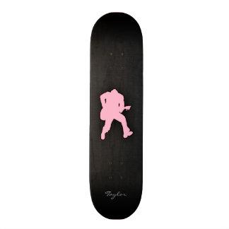 Light Pink Guitar Player Skate Board Decks