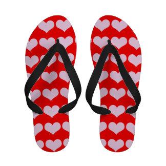 Light Pink Hearts Flip-Flops