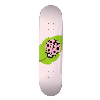 Light Pink Ladybug Skate Board