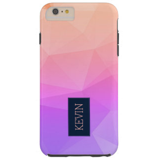 Light Pink & Lavender Modern Geometric Pattern Tough iPhone 6 Plus Case