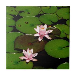 light pink lotus water lily flower tiles