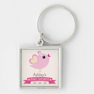 Light Pink Love Bird Baby Shower Keychains