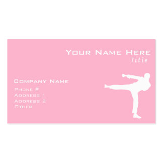 Light Pink Martial Arts Pack Of Standard Business Cards