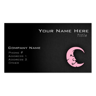 Light Pink Moon Pack Of Standard Business Cards