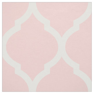 Light Pink Moroccan Quatrefoil Large Scale Fabric