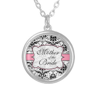 (Light Pink) Mother of the Bride Damask Necklace