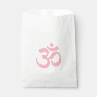 Light Pink Om Symbol Favour Bags