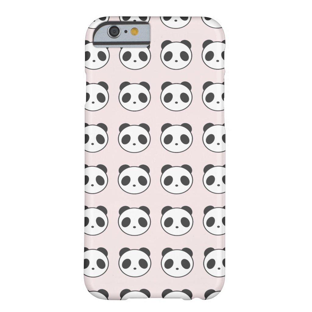 Light Pink Panda Pattern iPhone Case
