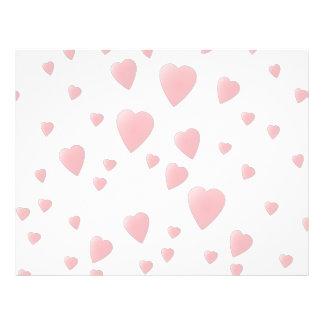 Light Pink Pattern of Love Hearts Flyer Design