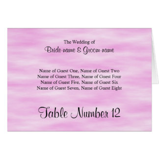 Light Pink Pattern Wedding Place Cards Design