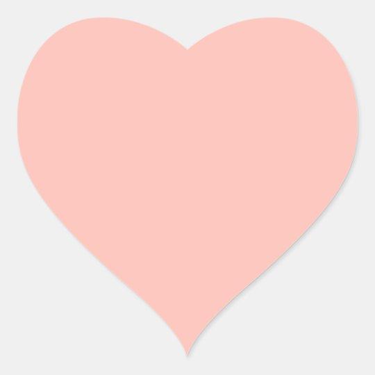 Light Pink Peach Baby Pink Pastel Girly Stuff Heart Sticker