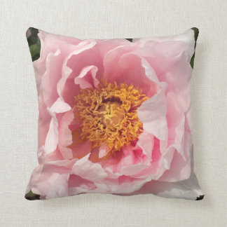 Light Pink Peony Pillow