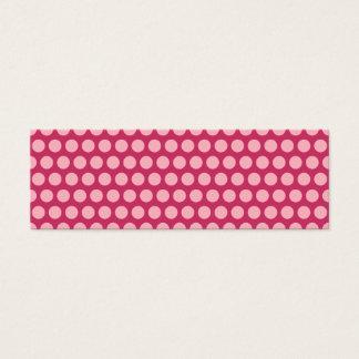Light Pink Polka Dots Mini Business Card