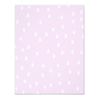 Light pink rain pattern. White and pink. 11 Cm X 14 Cm Invitation Card