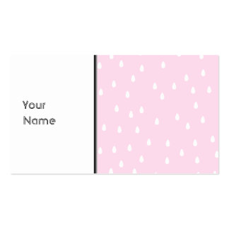 Light pink rain pattern. White and pink. Double-Sided Standard Business Cards (Pack Of 100)