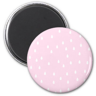 Light pink rain pattern. White and pink. Magnet