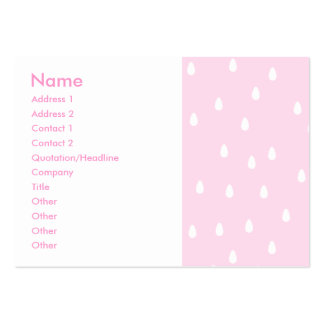Light pink rain pattern. White and pink. Pack Of Chubby Business Cards