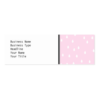 Light pink rain pattern. White and pink. Pack Of Skinny Business Cards