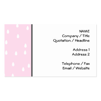 Light pink rain pattern. White and pink. Pack Of Standard Business Cards