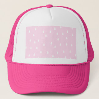 Light pink rain pattern. White and pink. Trucker Hat