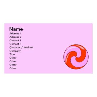 LIGHT PINK RED DIGITAL SWIRLS LOLLIPOP CIRCULAR BUSINESS CARD TEMPLATES