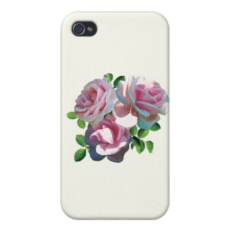 Light Pink Rose Heart iPhone 4/4S Cases