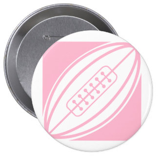 Light Pink Rugby Pinback Button