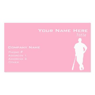 Light Pink Softball Business Card