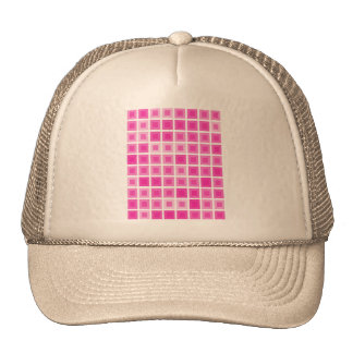Light Pink Squares Trucker Hat