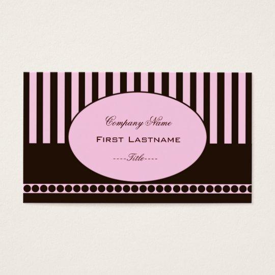 Light Pink Stripe Business Card