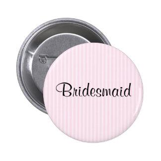 Light Pink Stripes Wedding Button
