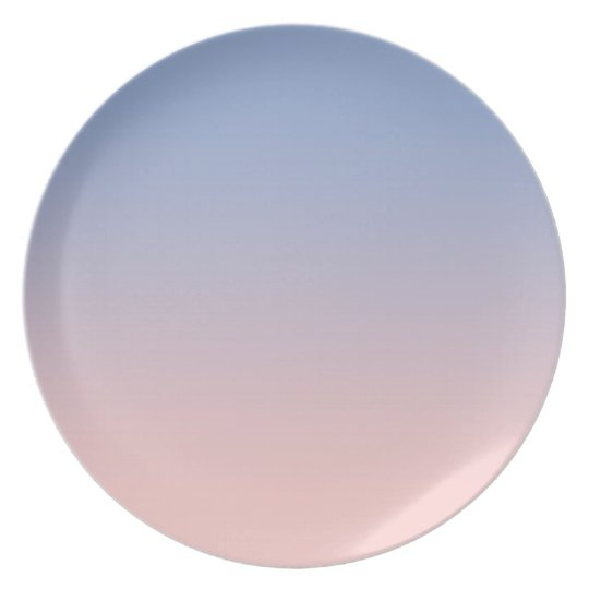 Light Pink to Blue Ombre Melamine Plate