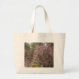 Light Pink Tree Blossom Canvas Bag