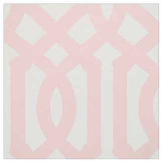 Light Pink Trellis Large Scale Fabric