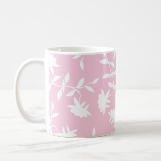 Light Pink Tropical Floral Pattern Coffee Mugs