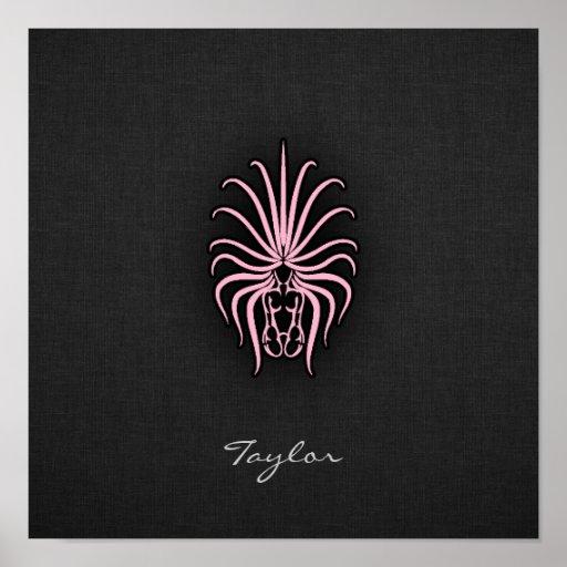 Light Pink Virgo Print