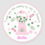 Light Pink Whimsical Gumball Party Sticker