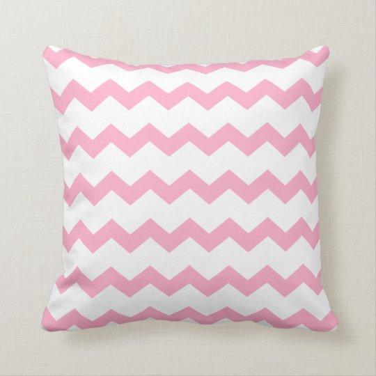 Light Pink White Chevron ZigZag Pattern Cushion