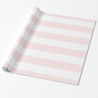 Light Pink, White XL Stripes Pattern Wrapping Paper