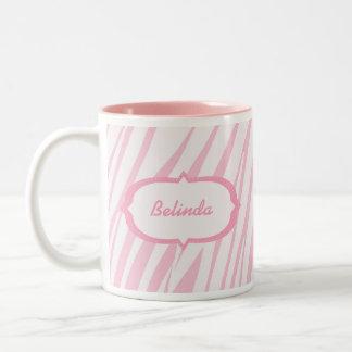 Light Pink Zebra Pattern Mug