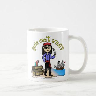 Light Pirate Girl Basic White Mug