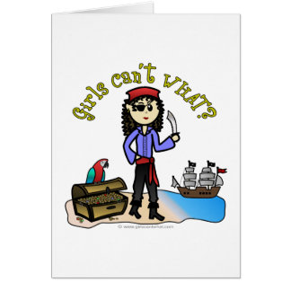 Light Pirate Girl Greeting Card