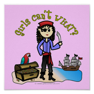 Light Pirate Girl Poster