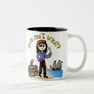 Light Pirate Girl Two-Tone Mug