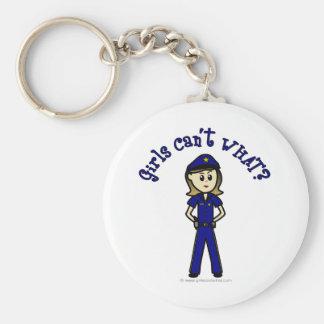 Light Police Officer Key Ring
