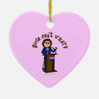 Light Politician Ceramic Heart Decoration