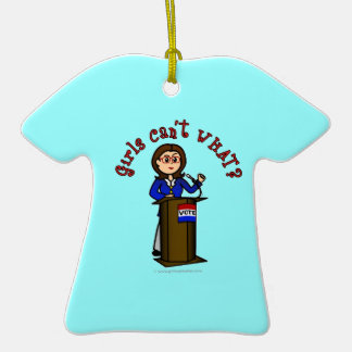 Light Politician Double-Sided T-Shirt Ceramic Christmas Ornament